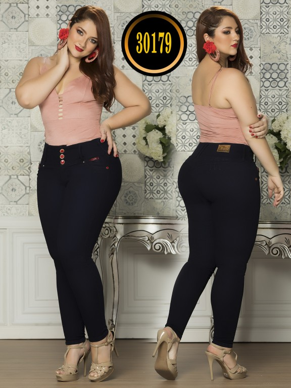 Colombian Butt lifting Plus Size Jean  - Ref. 119 -30179TE Plus Size