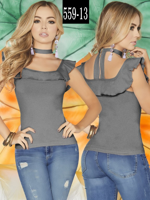 Blusa Colombiana - Ref. 268 -559-13 Gris