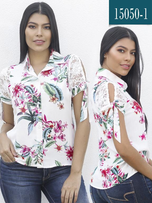 Blusa Colombiana - Ref. 112 -15050-1 Blanco