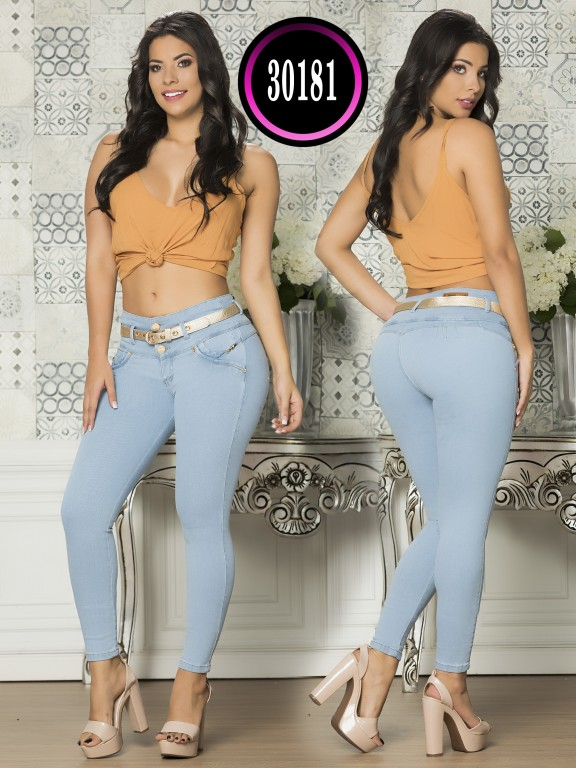 Colombian Butt lifting Plus Size Jean - Ref. 119 -30181TE