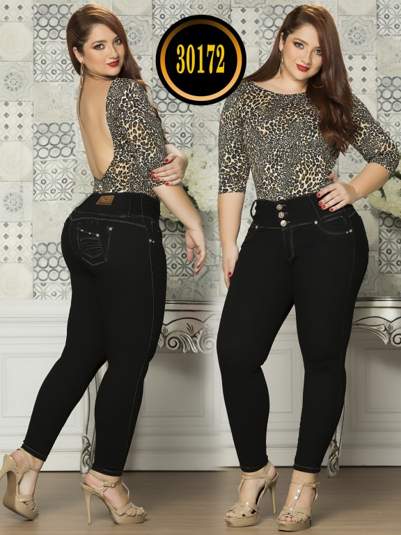 Colombian Butt lifting Plus Size Jean - Ref. 119 -30172TE Plus Size