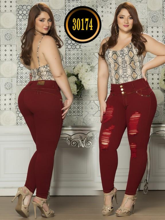 Jeans Levantacola Colombiano Plus Size - Ref. 119 -30174TE Plus Size