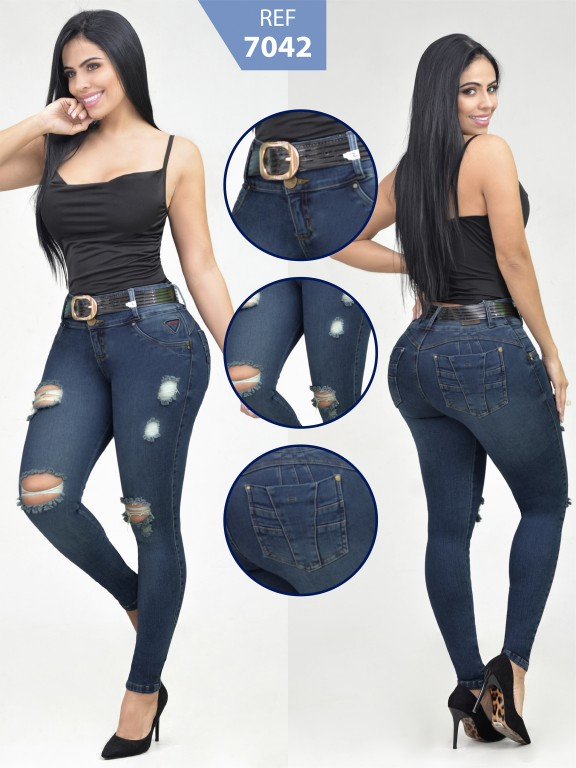 Jeans Levantacola Colombiano - Ref. 261 -7042-R