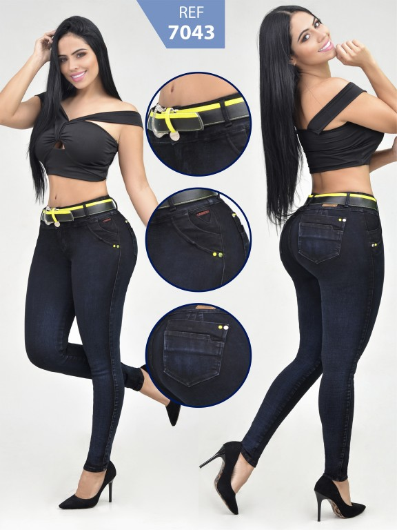 Jeans Levantacola Colombiano - Ref. 261 -7043-R