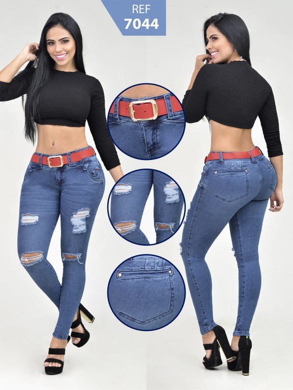 Jeans Levantacola Colombiano - Ref. 261 -7044-R