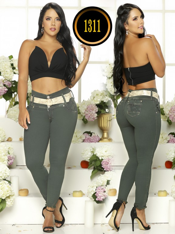 Colombian Butt Lifting Plus Size Jean - Ref. 119 -1311TB Plus Size