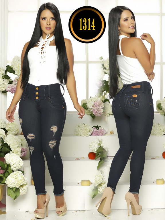 Colombian Butt Lifting Plus Size Jean - Ref. 119 -1314TB Plus Size