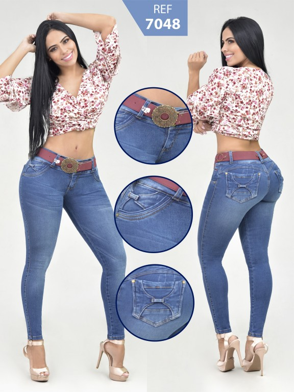 Jeans Levantacola Colombiano - Ref. 261 -7048-R