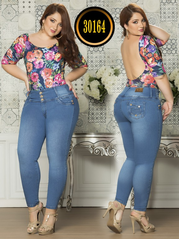 Colombian Butt lifting Plus Size Jean  - Ref. 119 -30164TE Plus Size