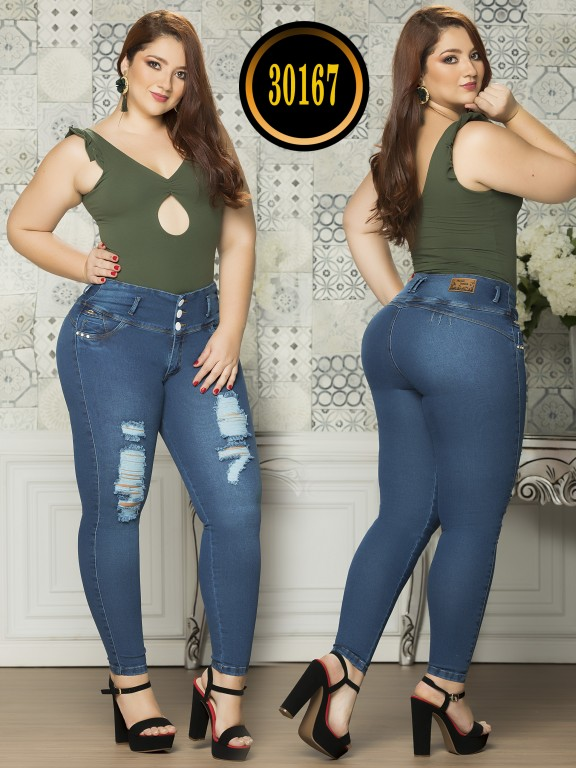 Colombian Butt lifting Plus Size Jean  - Ref. 119 -30167TE Plus Size