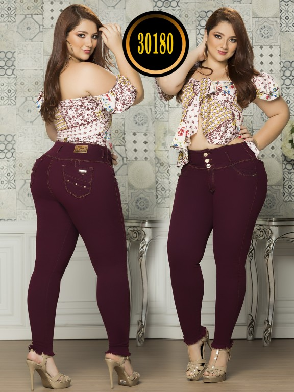 Colombian Butt lifting Plus Size Jean  - Ref. 119 -30180TE Plus Size