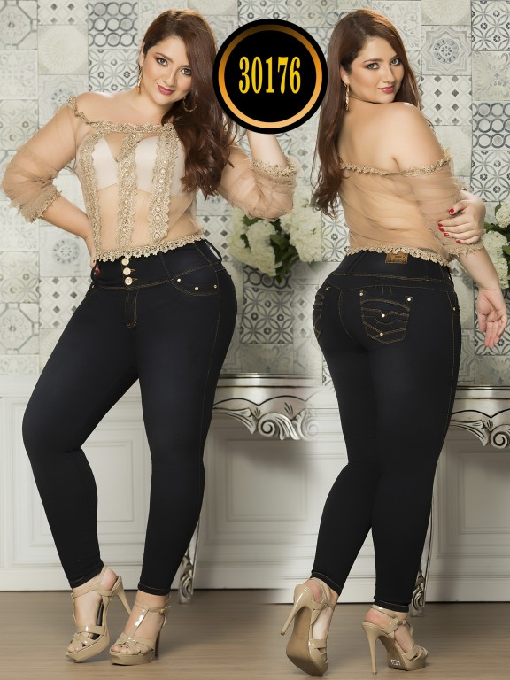 Colombian Butt lifting Plus Size Jean  - Ref. 119 -30176TE Plus Size