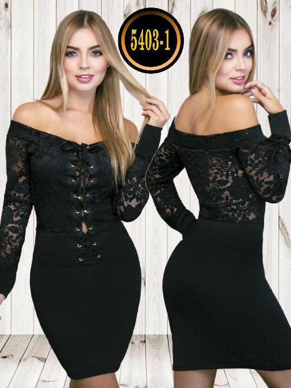 Colombian dress - Ref. 119 -5403-1 Negro