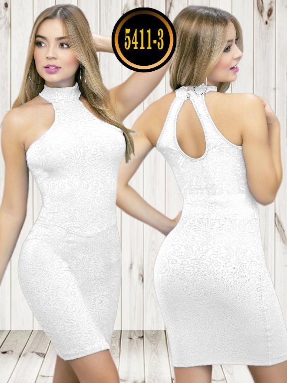 Colombian dress - Ref. 119 -5411-3 Blanco