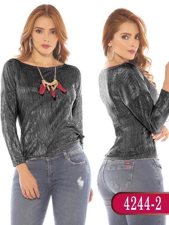 Blusa Colombiana - Ref. 252 -4244-2 Negro