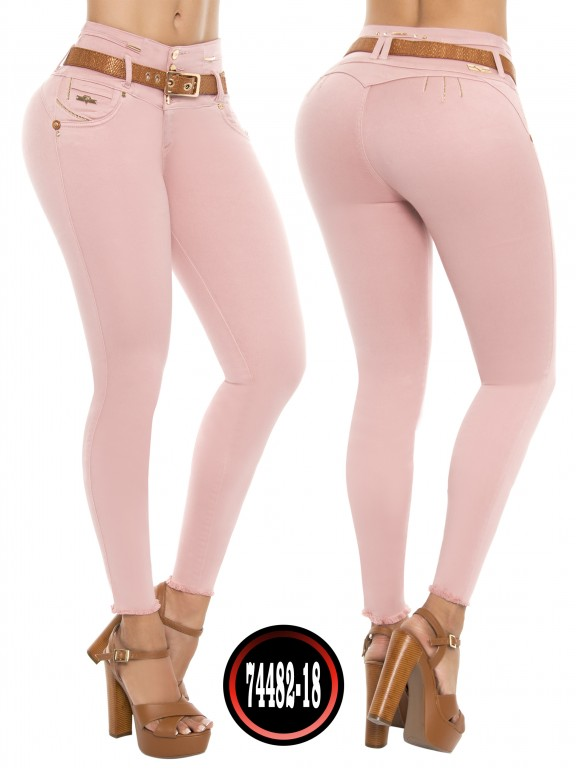 Jeans Levantacola Colombiano Do Jeans  - Ref. 248 -74482-D ROSADO