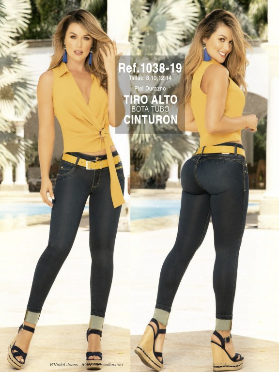 Jeans Colombianos - Ref. 280 -1038-19 Petroleo