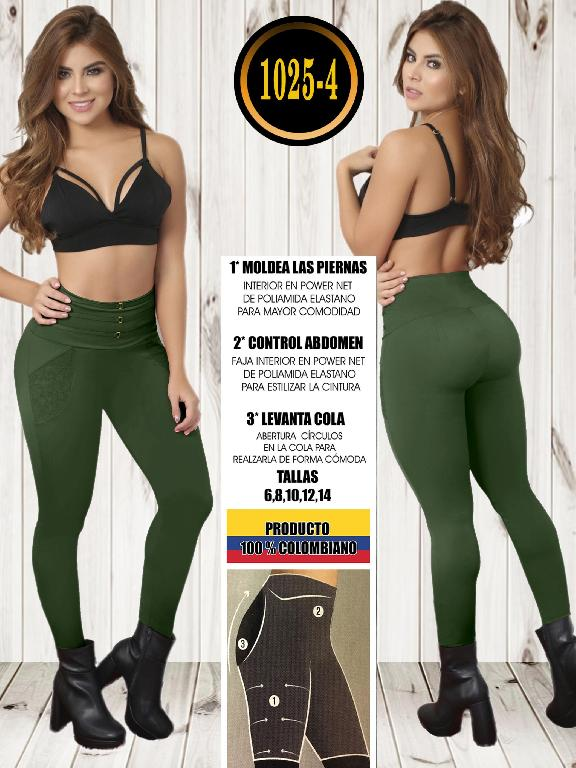 Colombian Butt Lifting Leggin - Ref. 119 -1025-4 Verde