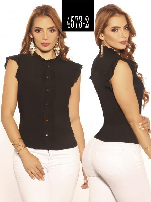 Blusa Moda Colombiana Vikats - Ref. 252 -4573-2 Negro