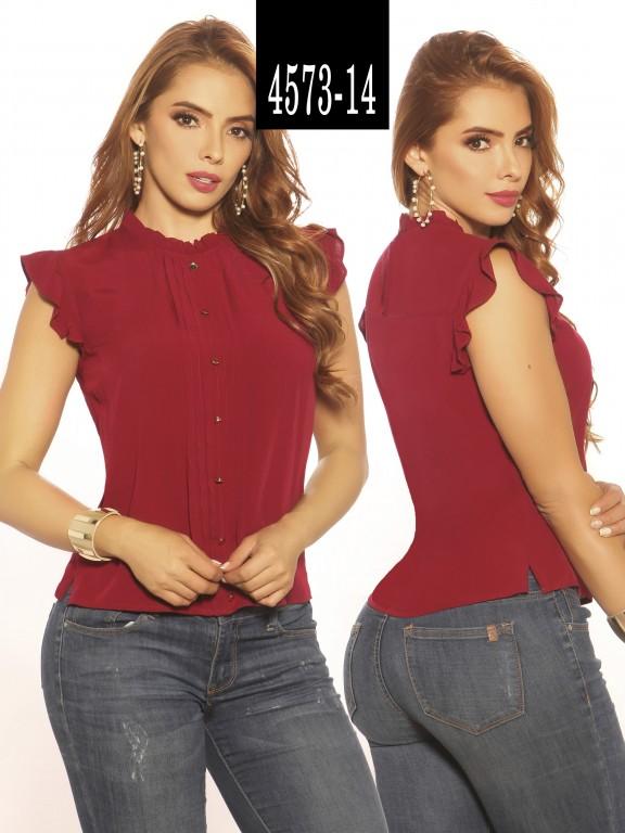 Blusa Moda Colombiana Vikats - Ref. 252 -4573-14 Vino Tinto