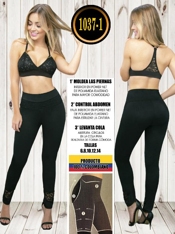 Colombian Butt Lifting Leggin - Ref. 119 -1037-1 Negro