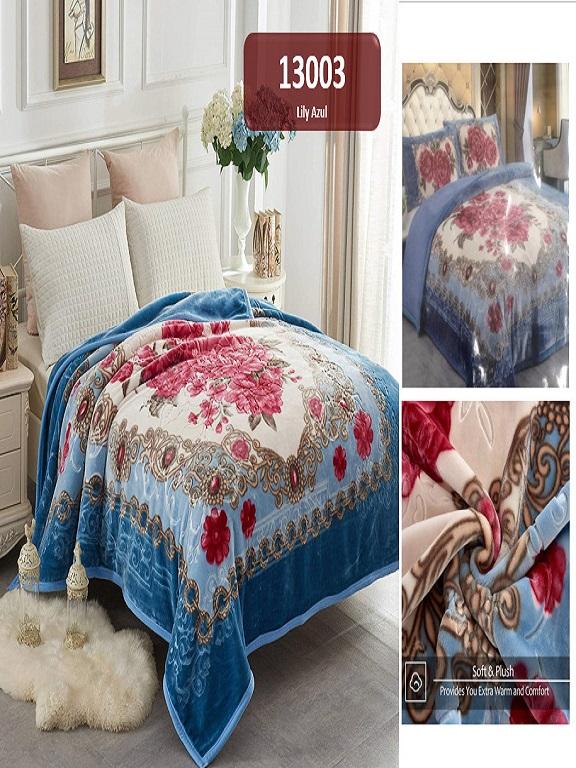 Cobija K Lily Azul - Ref. 272 -13003 K Lily Azul