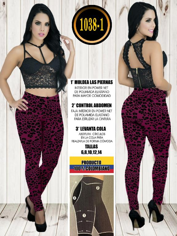 Colombian Butt Lifting Leggin - Ref. 119 -1038-1Animal Print Fucsia