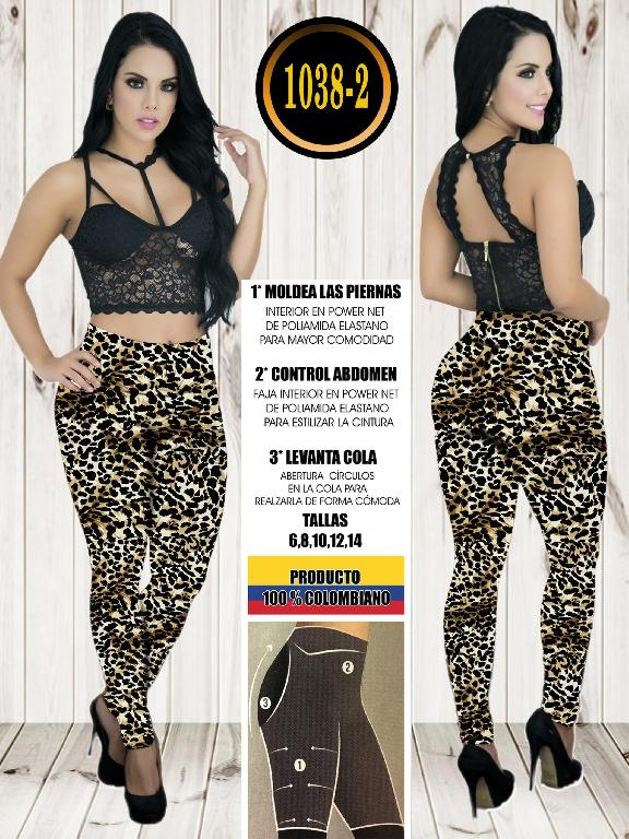 Colombian Butt Lifting Leggin - Ref. 119 -1038-2 Animal Print Amarillo