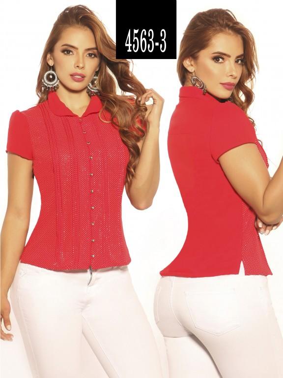 Blusa Moda Colombiana Vikats - Ref. 252 -4563-3 Rojo