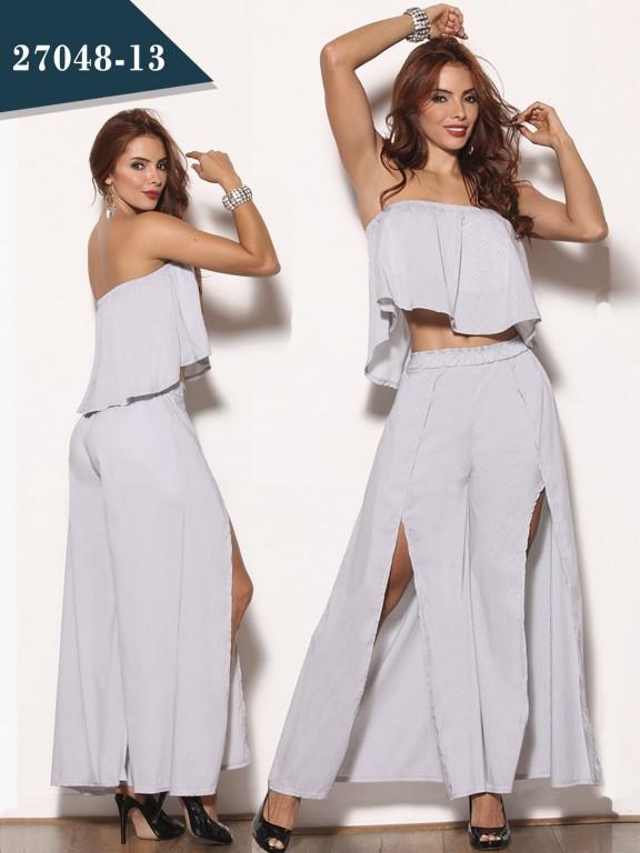 Conjunto Moda Colombiana Cereza - Ref. 111 -27048-13 Gris