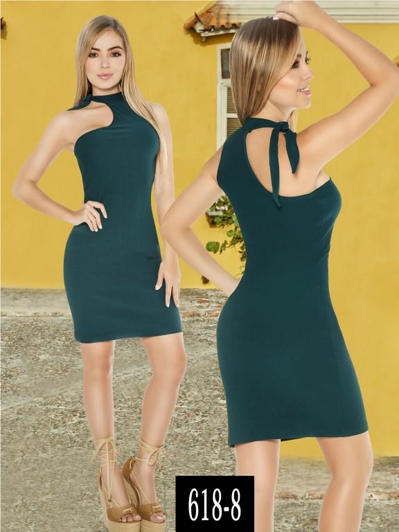 Vestido Colombiano - Ref. 268 -618-8 Verde