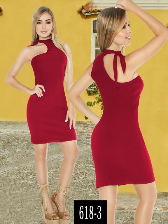Vestido Colombiano - Ref. 268 -618-3 Rojo