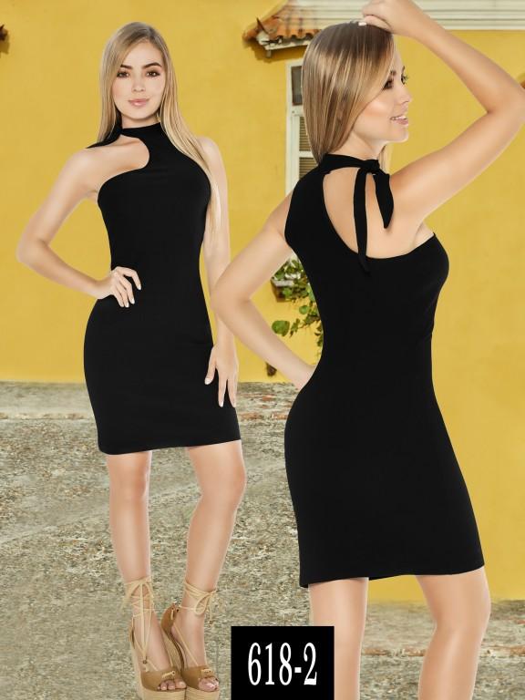 Vestido Colombiano - Ref. 268 -618-2 Negro