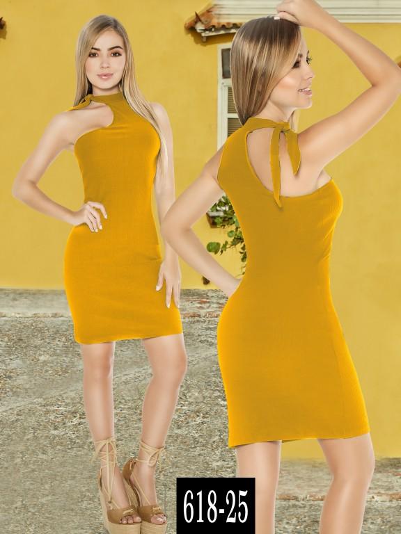 Vestido Colombiano - Ref. 268 -618-25 Mostaza