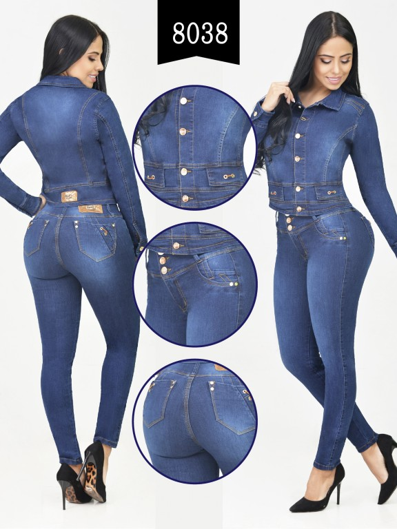 Colombian Set with butt lifting jean and jacket - Ref. 261 -8038-R