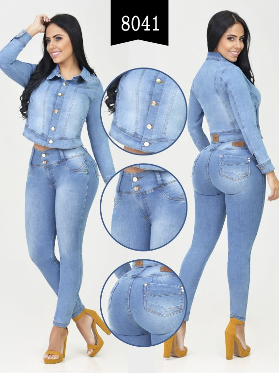 Colombian Set with butt lifting jean and jacket - Ref. 261 -8041-R