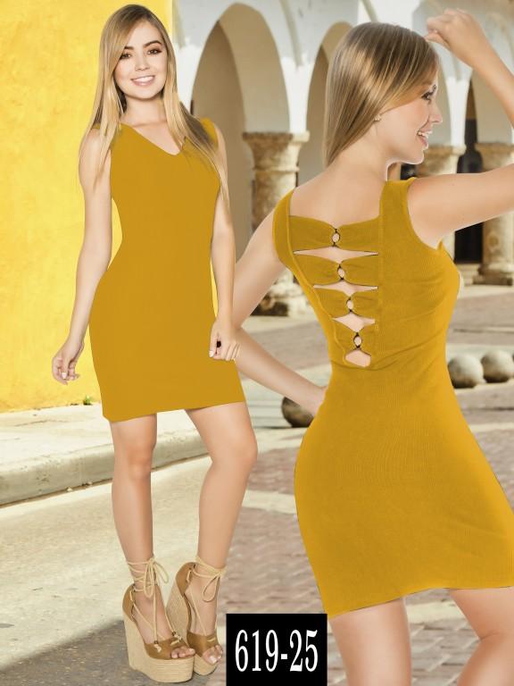 Vestido Colombiano - Ref. 268 -619-25 Mostaza