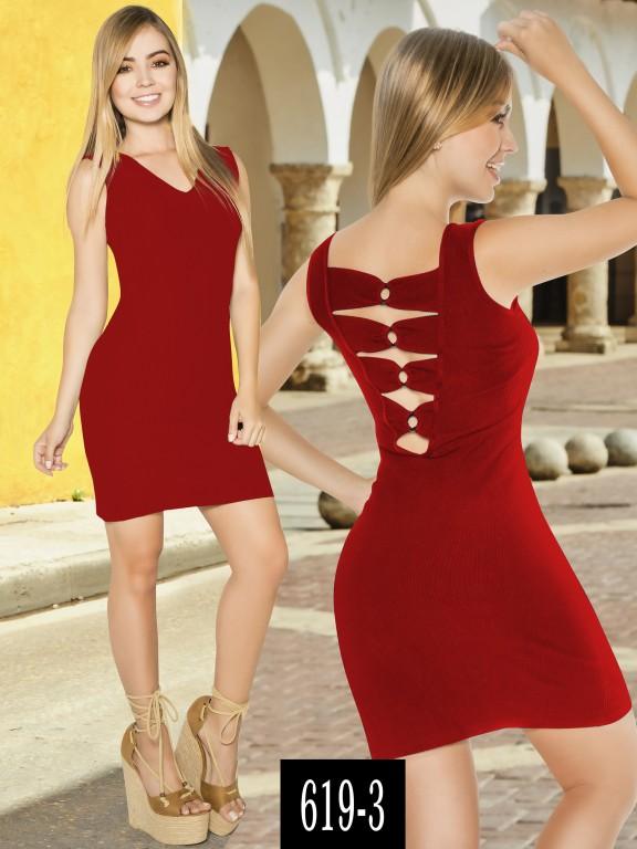 Vestido Colombiano - Ref. 268 -619-3 Rojo