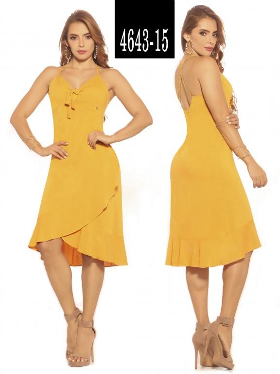 Vestido Colombiano - Ref. 252 -4643-15 Amarillo