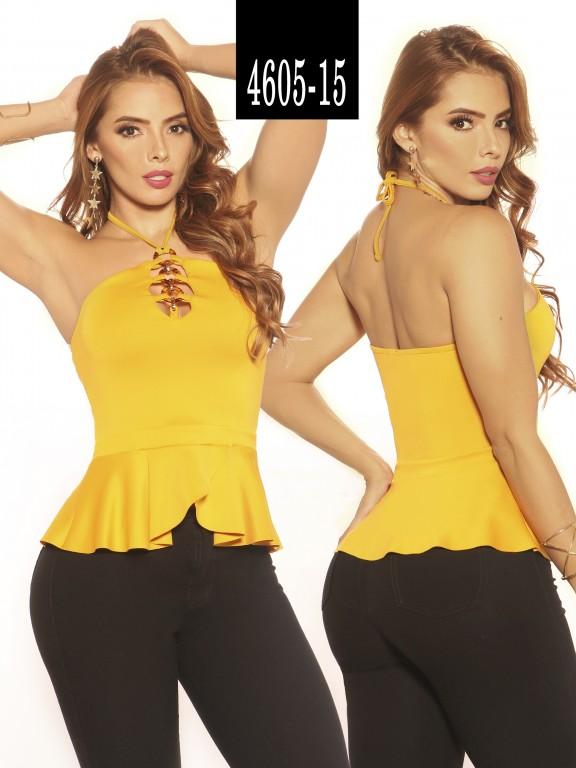 Blusa Moda Colombiana Vikats - Ref. 252 -4605-15 Amarillo
