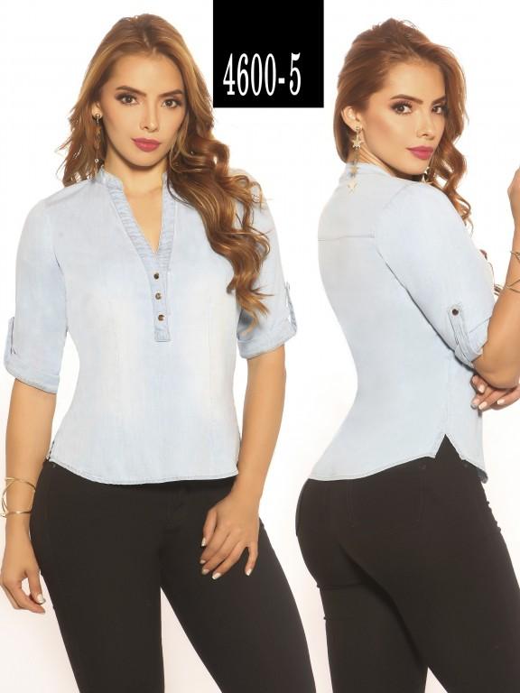 Blusa Moda Colombiana Vikats - Ref. 252 -4600-5 Azul