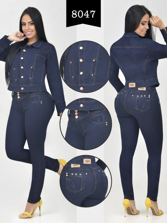 Colombian Set with butt lifting jean and jacket - Ref. 261 -8047-R
