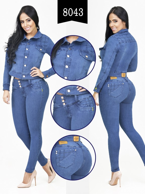 Colombian Set with butt lifting jean and jacket - Ref. 261 -8043-R