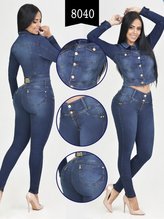 Colombian Set with butt lifting jean and jacket - Ref. 261 -8040-R