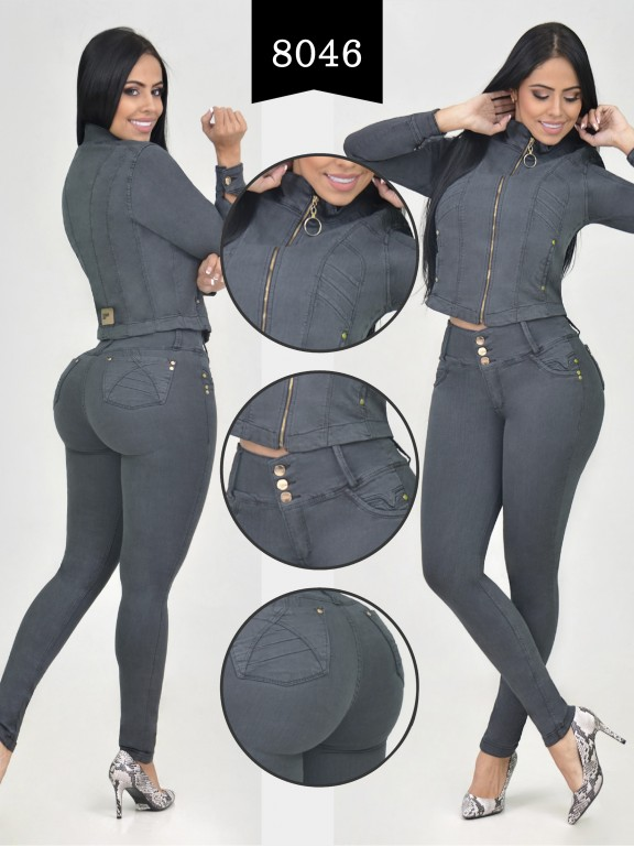 Colombian Set with butt lifting jean and jacket - Ref. 261 -8046-R