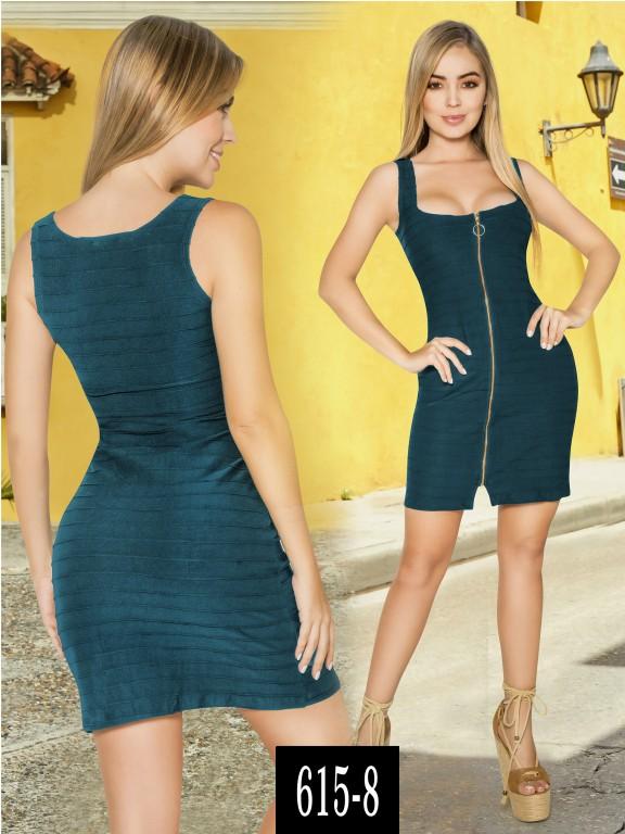Vestido Colombiano - Ref. 268 -615-8 Verde