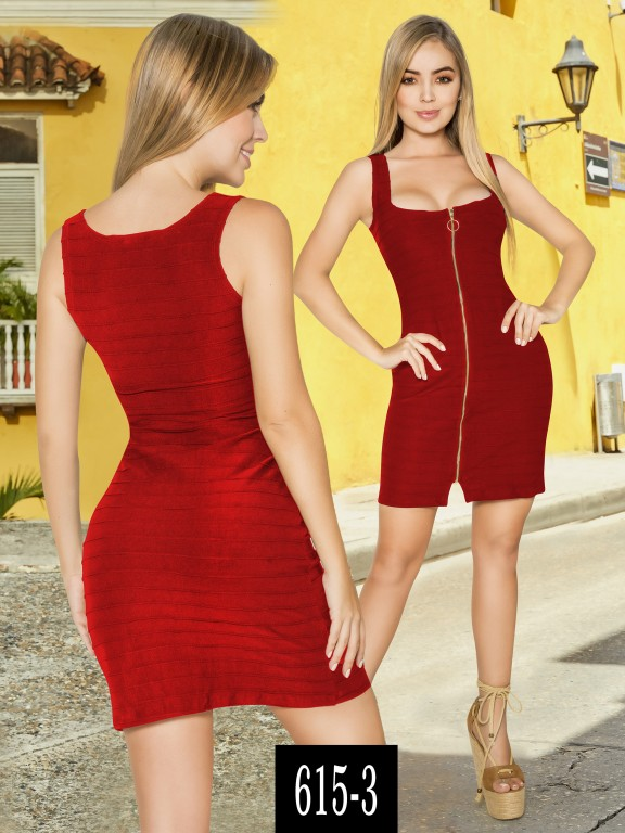 Vestido Colombiano - Ref. 268 -615-3 Rojo