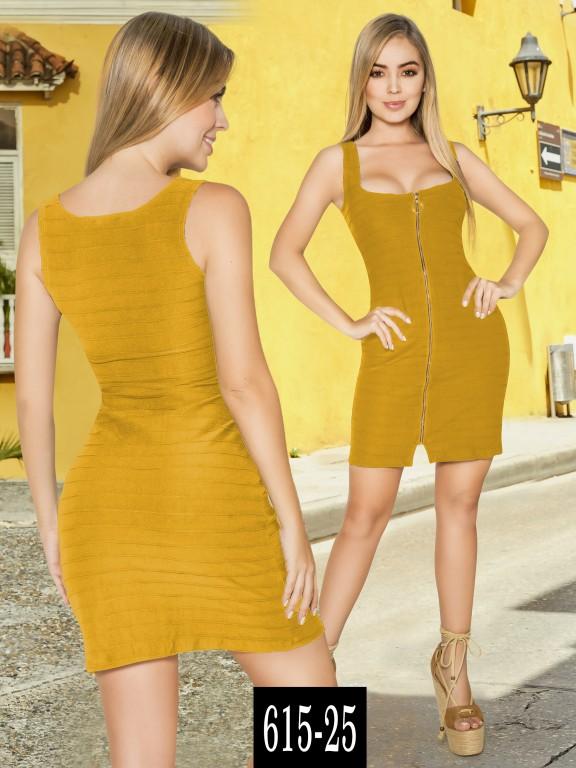 Vestido Colombiano - Ref. 268 -615-25 Mostaza