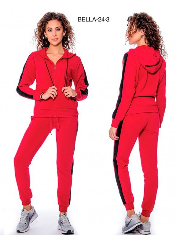 Conjunto Sudadera L.A  - Ref. 200 -Bella 24- 3 Rojo