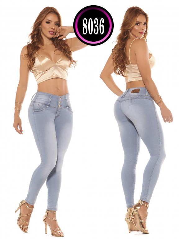 Colombian Butt lifting Jean  - Ref. 119 -8036